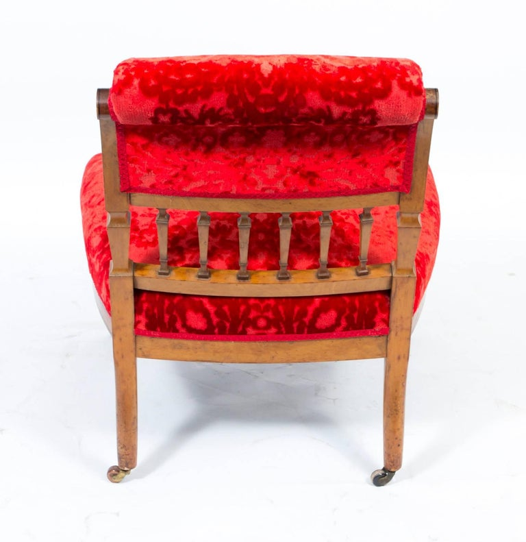 19th Century Victorian Satinwood Nursing Chair For Sale 2