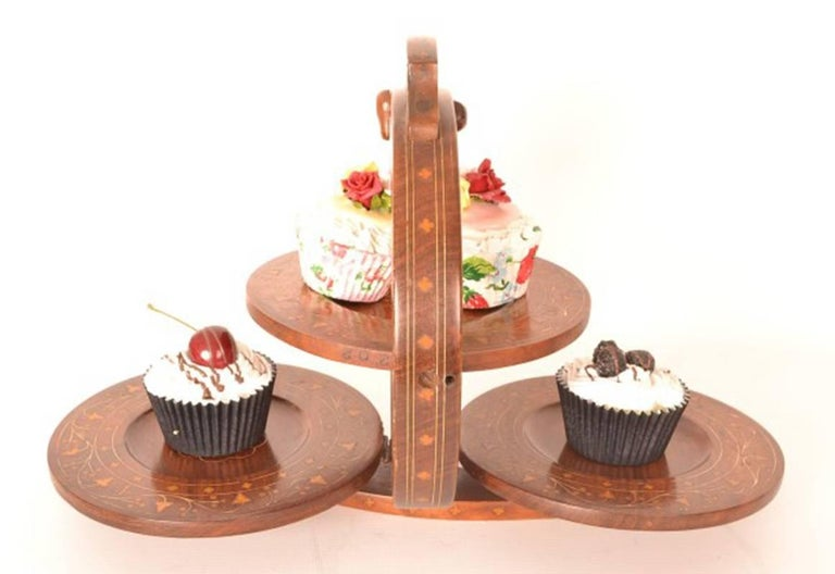 Wooden Folding Cake Stand