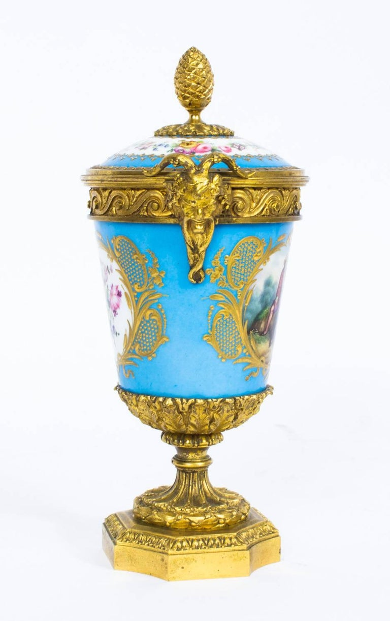 19th century pair of french ormolu mounted svres lidded urns porcelain 19th century pair of french ormolu mounted svres lidded urns vases for sale reviewsmspy