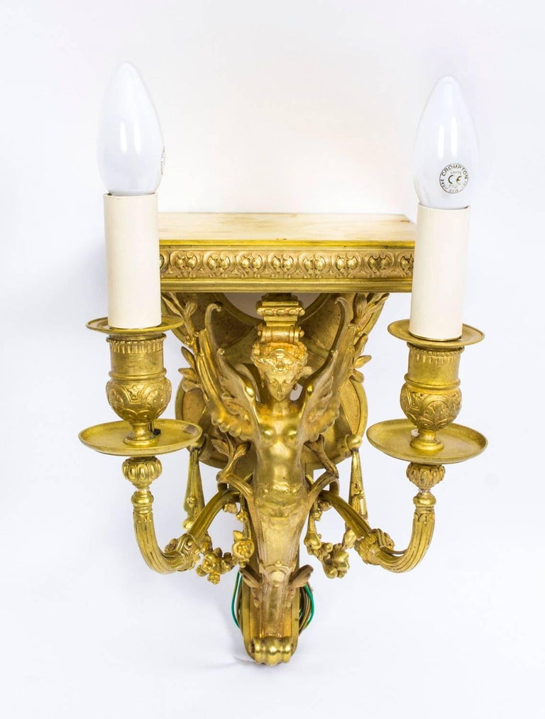 Early 20th Century Pair of French Art Nouveau Ormolu Wall Lights ...