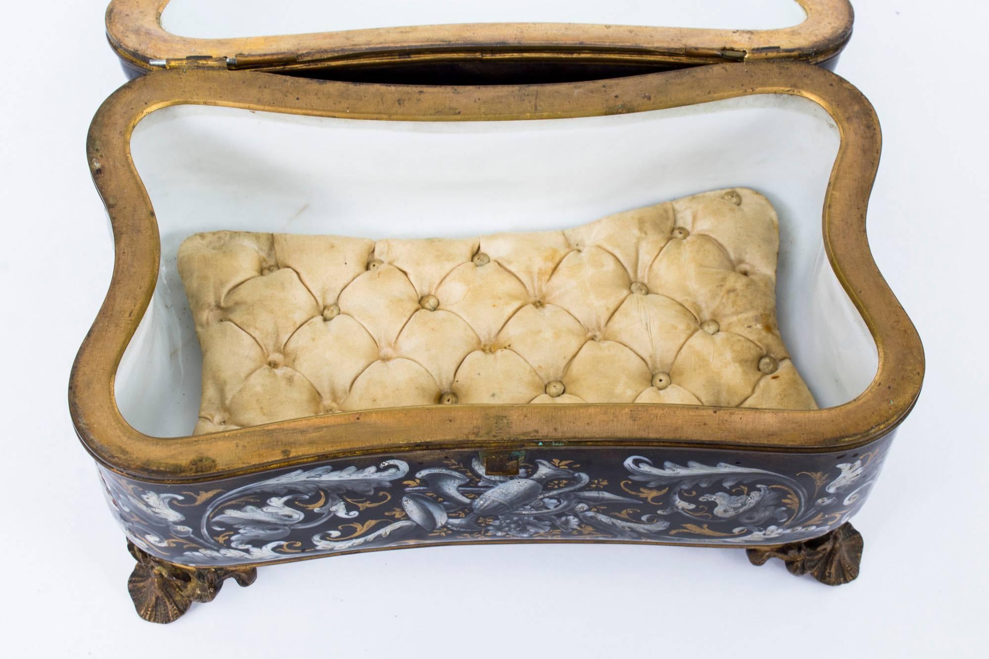 Antique French Jewelry Casket 1000 Jewelry Box