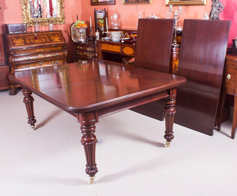 19th century flame mahogany extending dining table for for 10 ft dining table sale