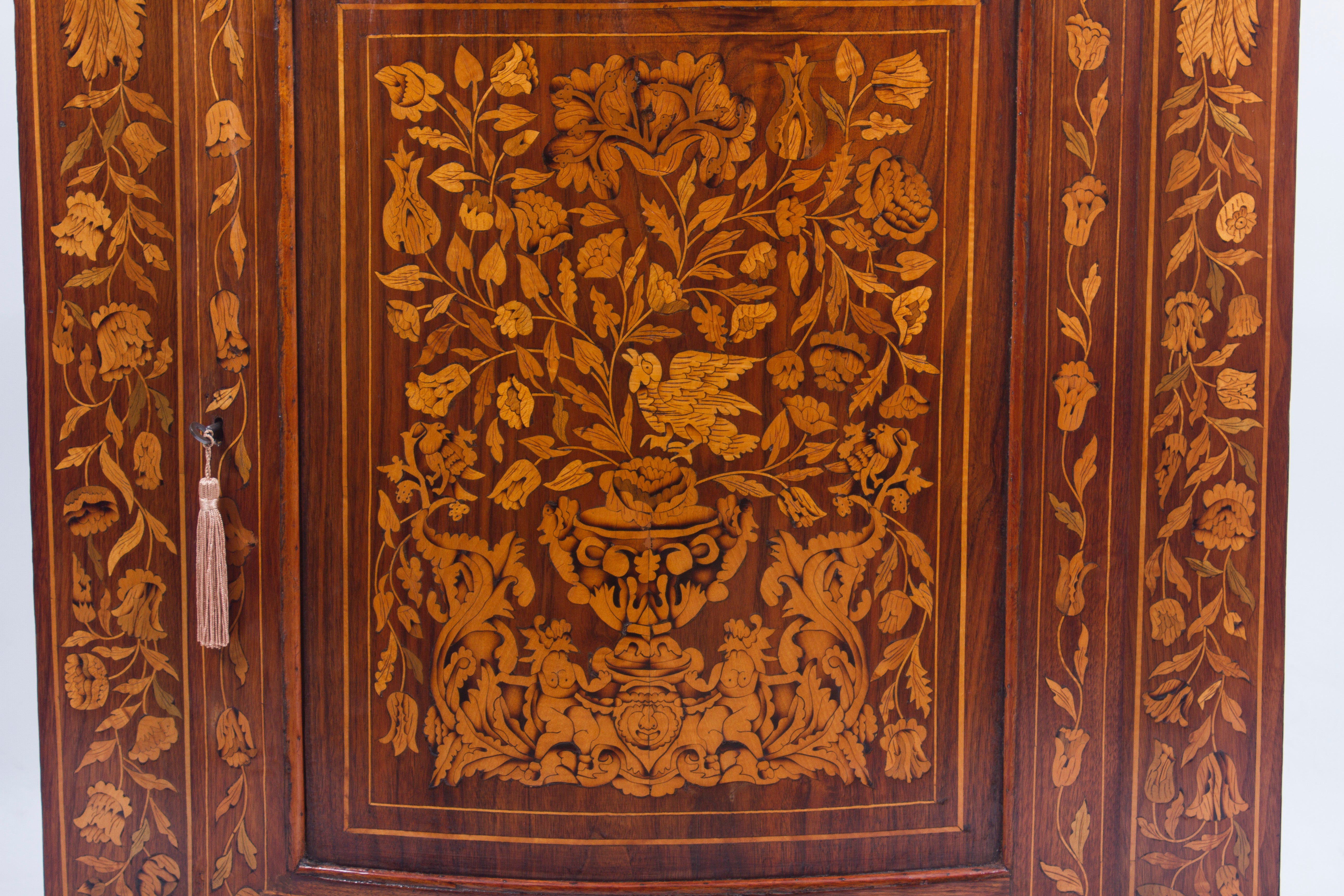 18th Century Dutch Walnut And Floral Marquetry Corner Cabinet For Sale At  1stdibs