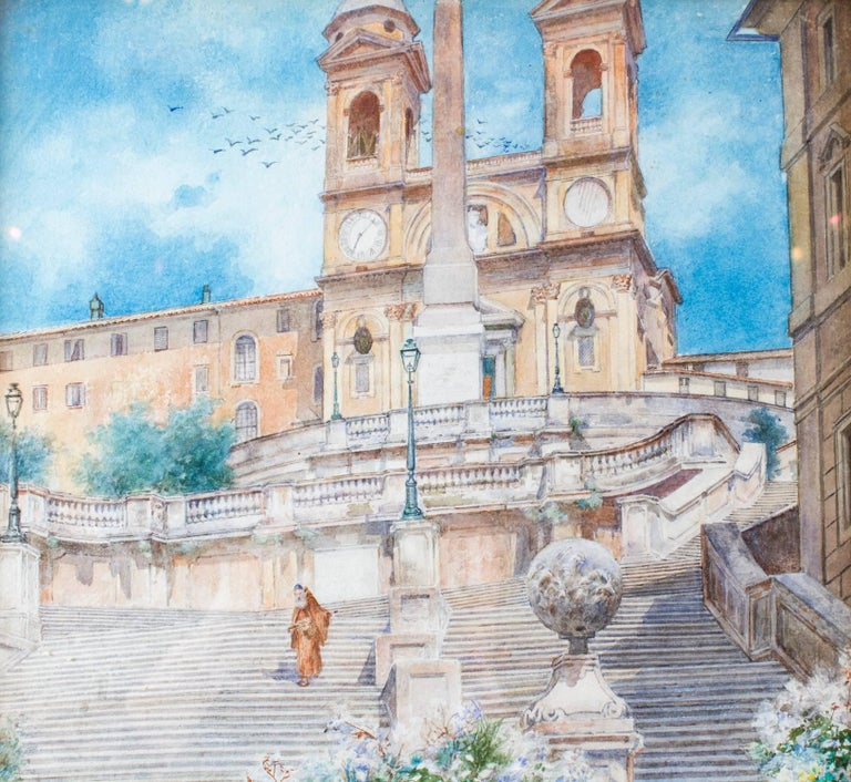 Late 19th Century 19th Century Watercolour Ettore Ascenzi