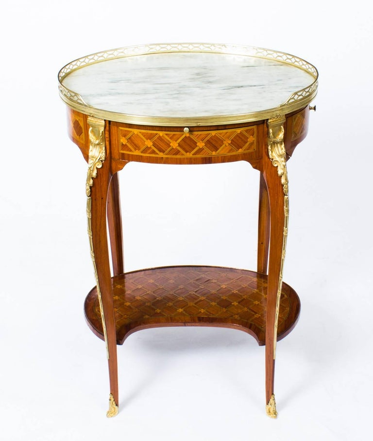 19th Century French Kingwood And Parquetry Gueridon