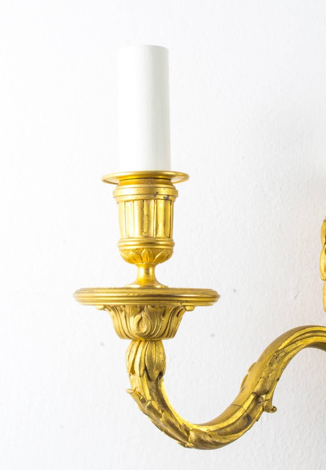 Antique Pair of Decorative Twin Branch Wall Lights, 19th Century For ...
