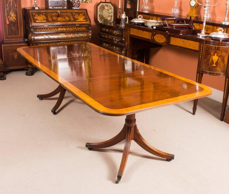 Regency Vintage Dining Table By William Tillman Harrods And Ten Chairs For Sale