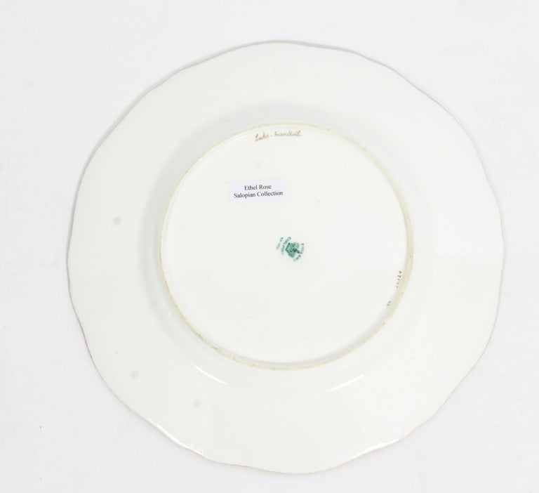 Late 19th Century Antique Coalport Porcelain Plate Lake Menteith, 1891 For Sale