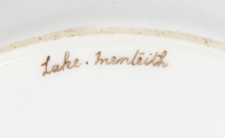 Antique Coalport Porcelain Plate Lake Menteith, 1891 For Sale 2