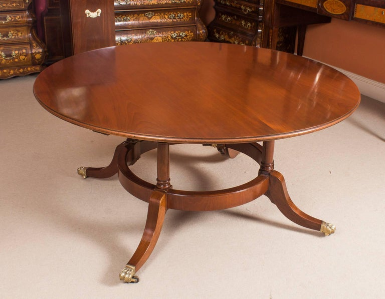This Is A Beautiful Regency Revival Jupe Style Dining Table Dating From The Mid