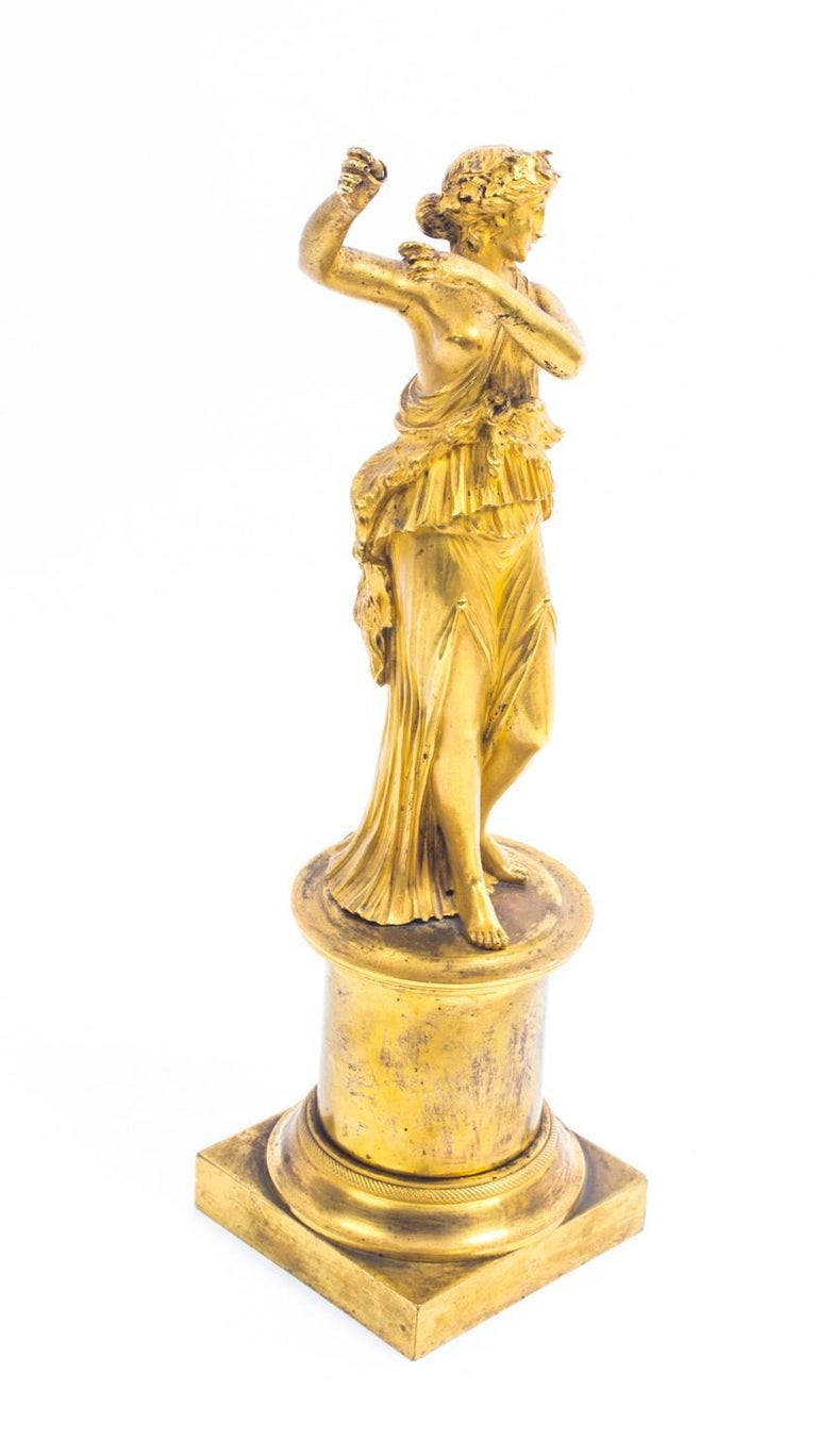 19th Century Pair of French Ormolu Classical Maidens Dancing For Sale 1