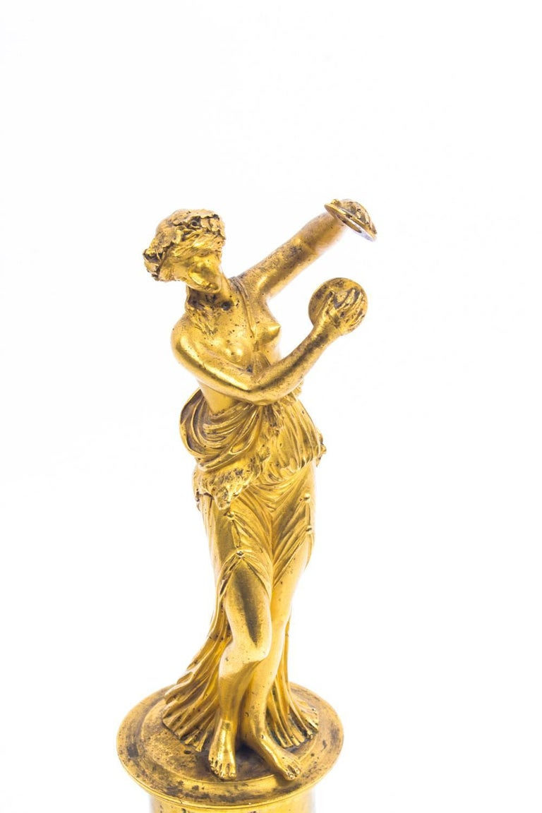 19th Century Pair of French Ormolu Classical Maidens Dancing For Sale 4