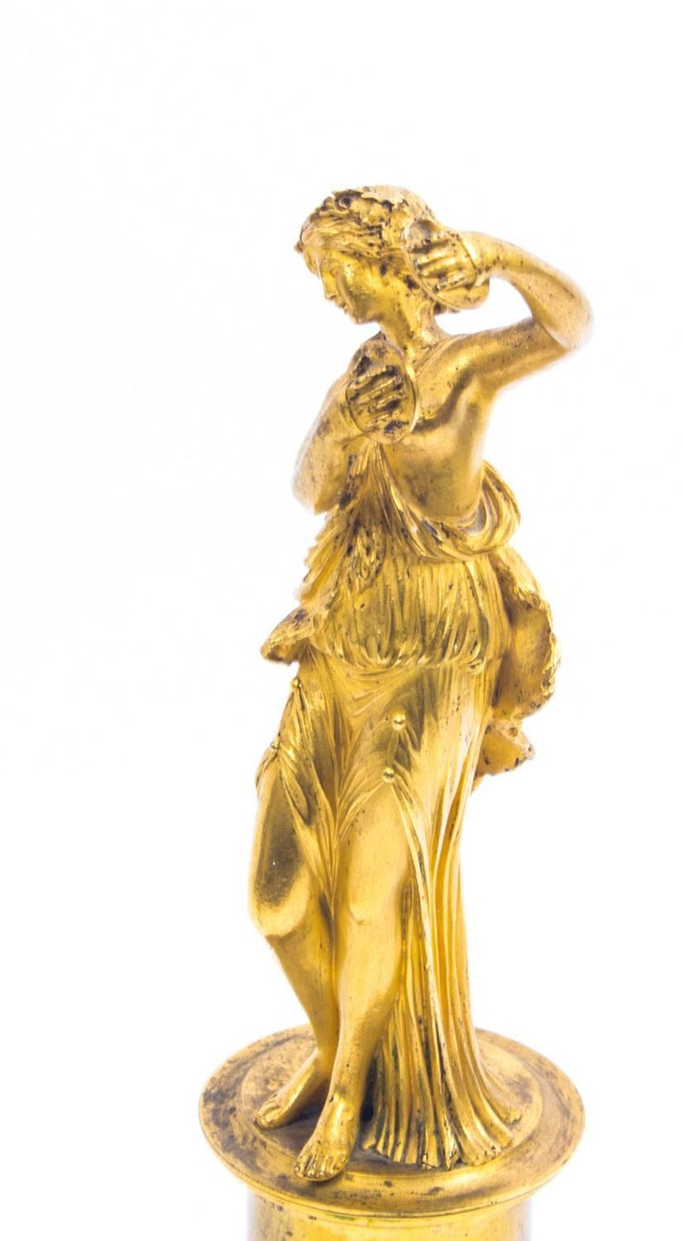 19th Century Pair of French Ormolu Classical Maidens Dancing For Sale 3