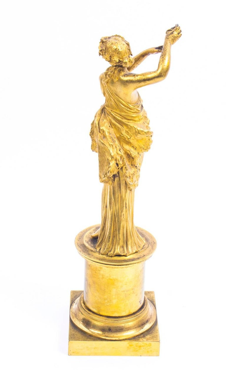 19th Century Pair of French Ormolu Classical Maidens Dancing For Sale 2
