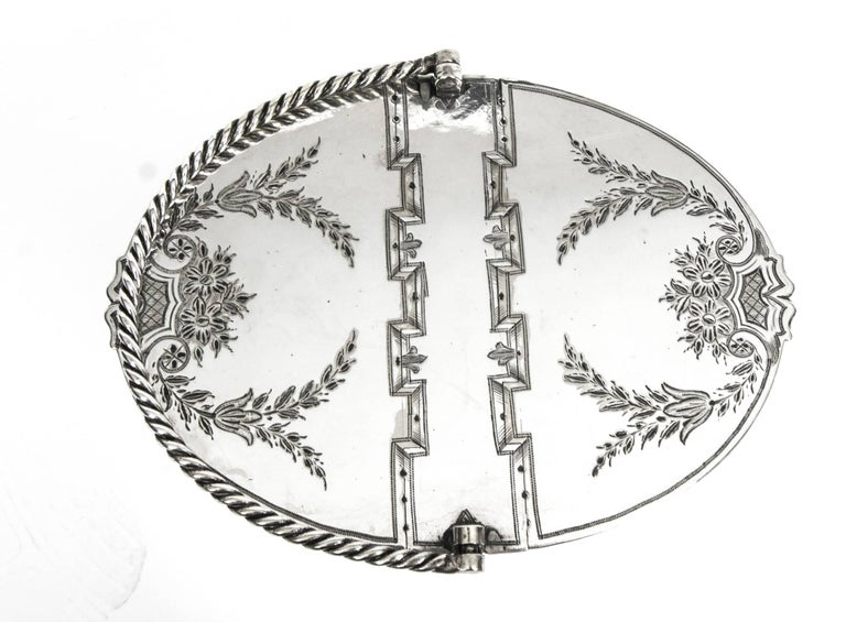 English Antique Silver Plated Victorian Sweet Basket 19th Century For Sale