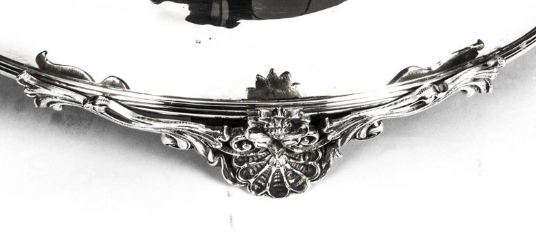 Late 19th Century Antique English Silver Plated Cake Stand Elkington 19th Century For Sale
