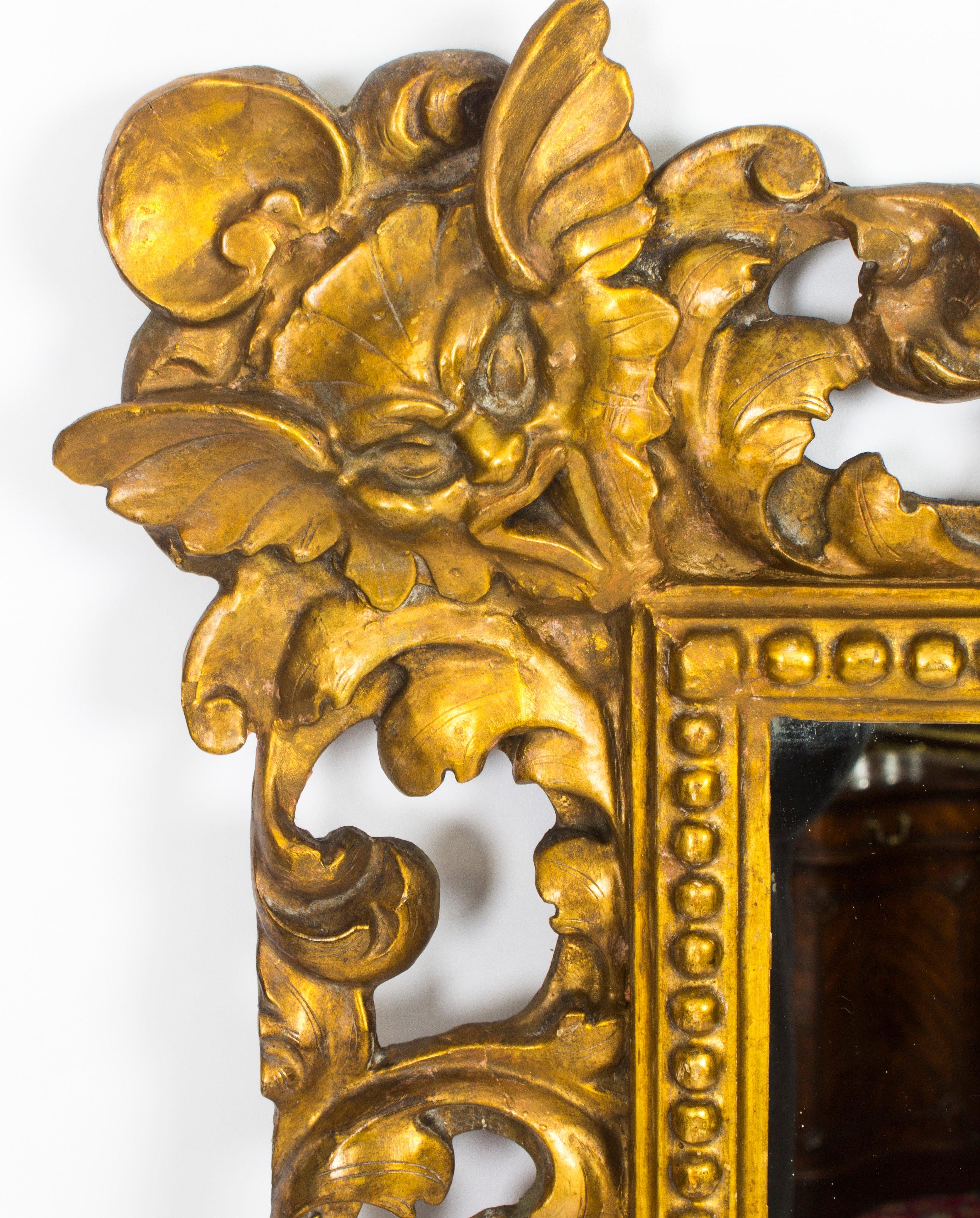 Antique Large Italian Gilded Florentine Mirror, 18th Century For ...