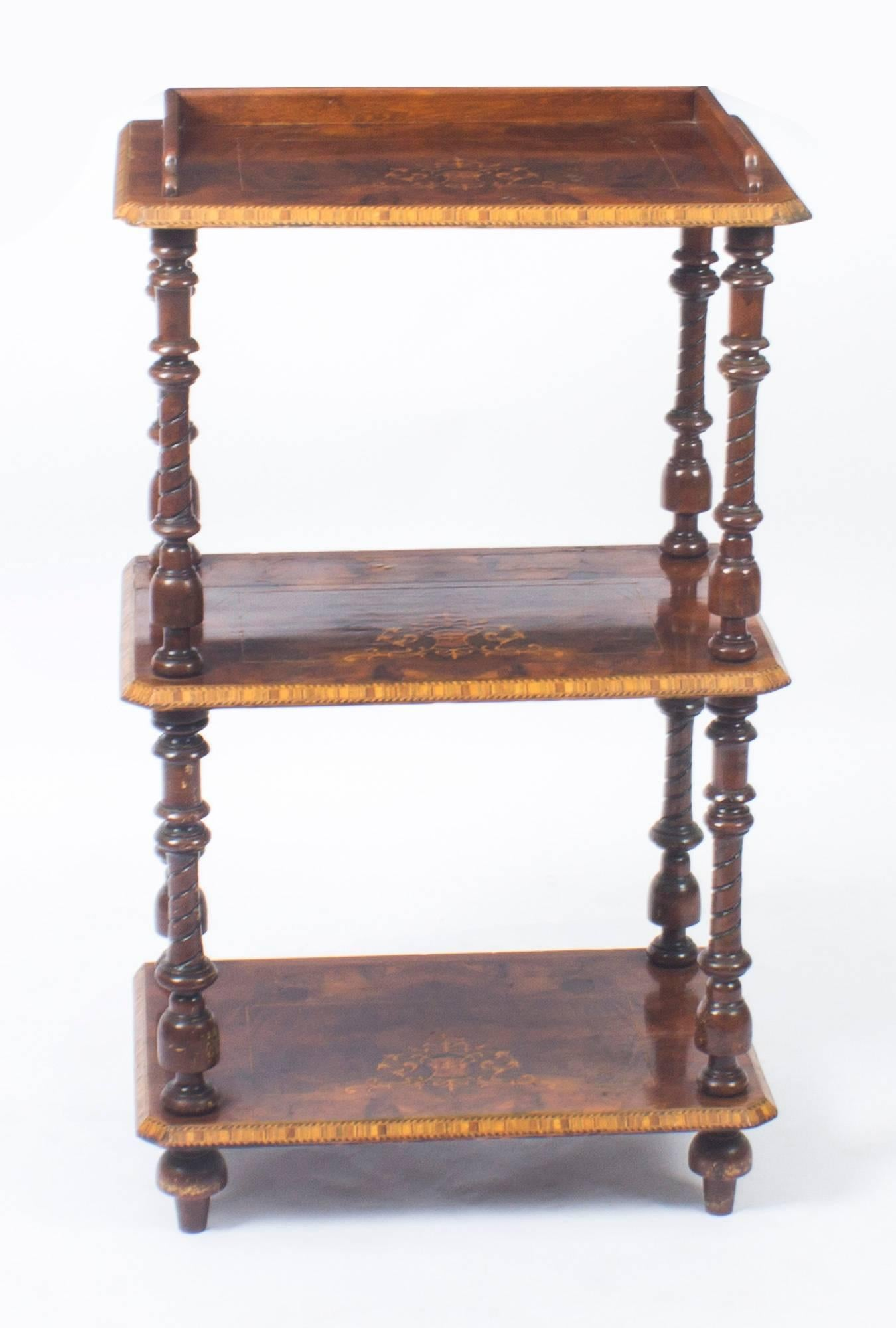 There Is No Mistaking The Unique Quality And Elegant Design Of This  Victorian Whatnot, Circa