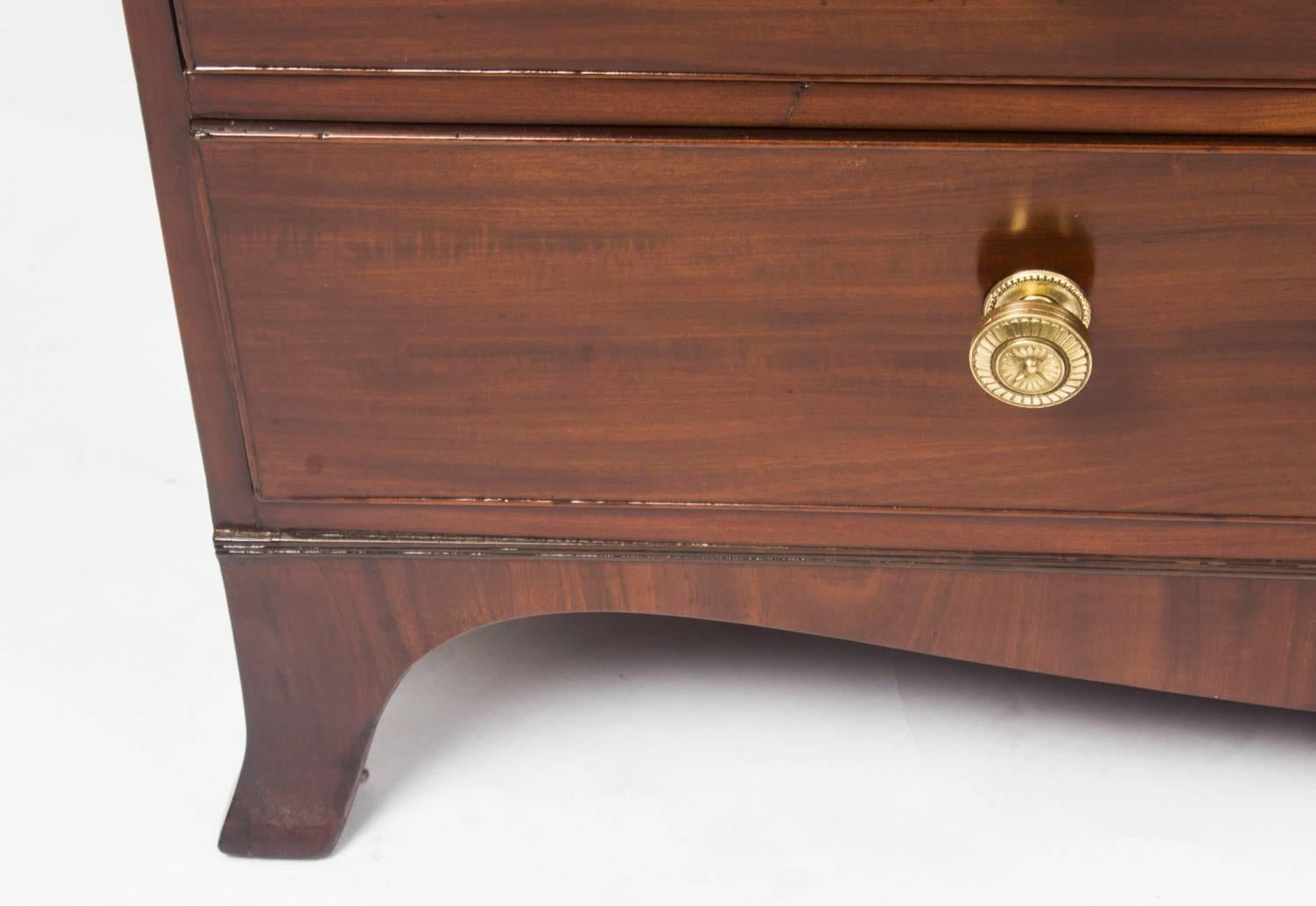 Antique english george iii mahogany bureau th century for sale