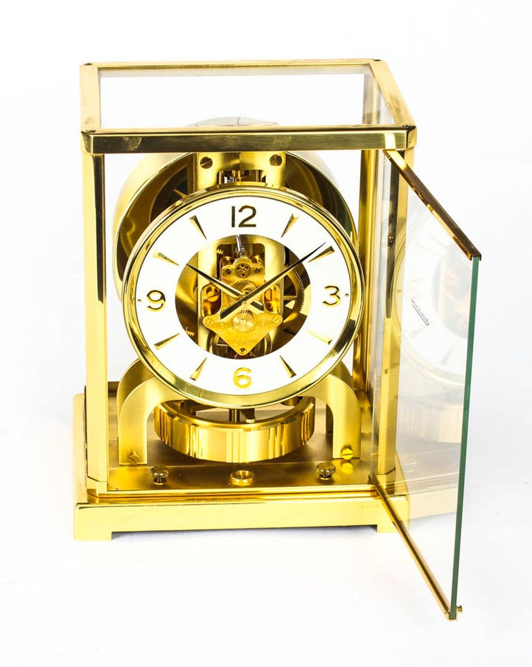 Vintage Atmos Jaeger Lecoultre Mantle Clock Box And Papers