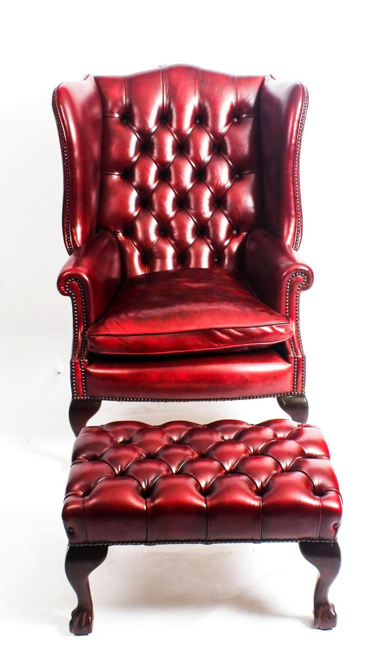 This Is A Very Handsome Pair Of Bespoke New Leather Wing Chairs With