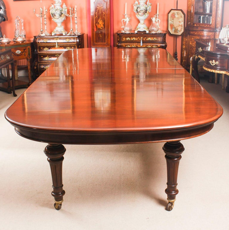 Antique Victorian Flame Mahogany D End Extending Dining Table Th - Antique conference table