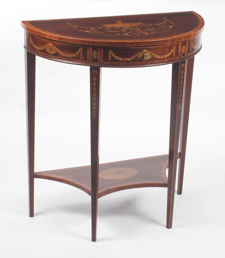 Mahogany Antique Console Tables 19th Century For Sale