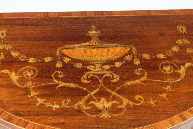 Antique Regency Revival Marquetry Console Table, 19th Century In Excellent Condition For Sale In London, GB