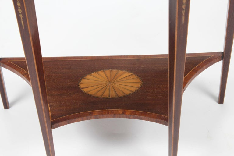 Antique Regency Revival Marquetry Console Table, 19th Century For Sale 4