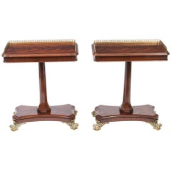 Pair of Regency Style Mahogany Occasional Side/End Tables