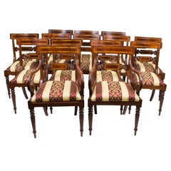 Splendid Bespoke Set of 14 Regency Dining Chairs