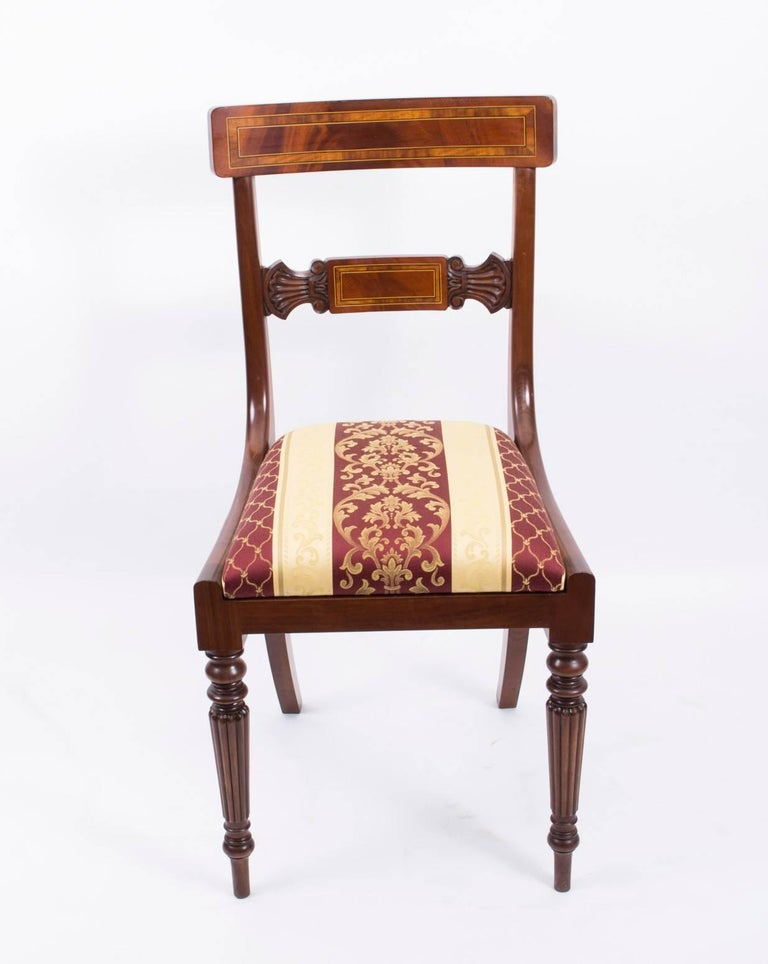 Splendid Bespoke Set of 12 Regency Style Dining Chairs ...
