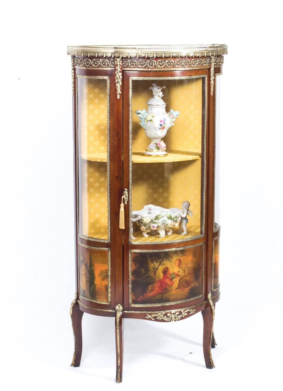Antique French Vernis Martin Cabinet Vitrine Circa 1900
