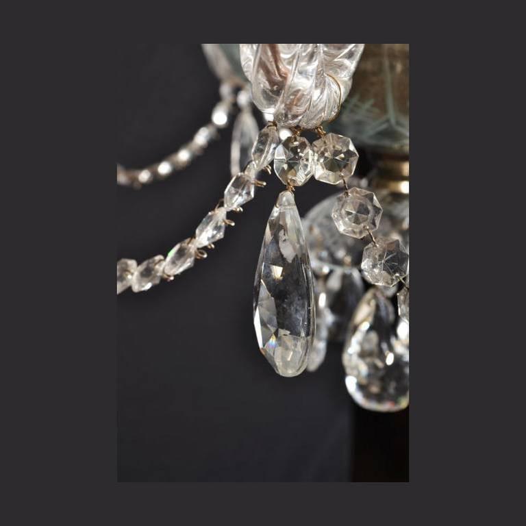 Stunning Pair Of Vintage Venetian Eight Light Chandeliers