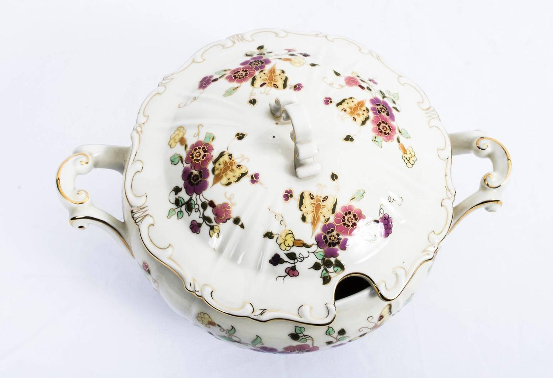 Antique Extensive Zsolnay Porcelain Dinner Service for