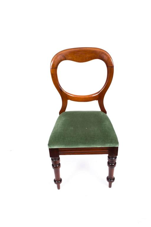 English Antique Set of Ten Victorian Balloon Back Dining Chairs, circa 1880  For Sale - Antique Set Of Ten Victorian Balloon Back Dining Chairs, Circa 1880