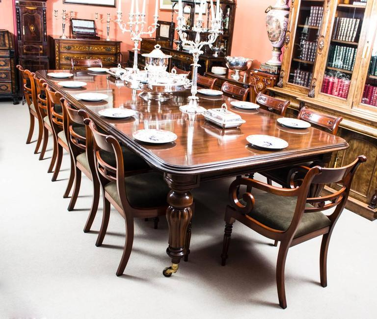 Large Victorian Dining Room: Antique Victorian Mahogany Dining Table, Circa 1850 At 1stdibs