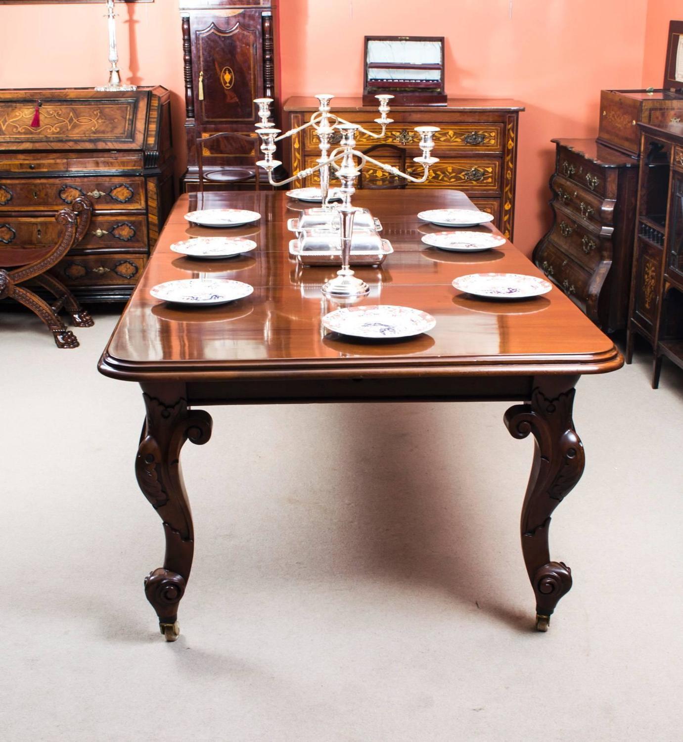 Antique Victorian Mahogany Dining Table And Eight Chairs At 1stdibs