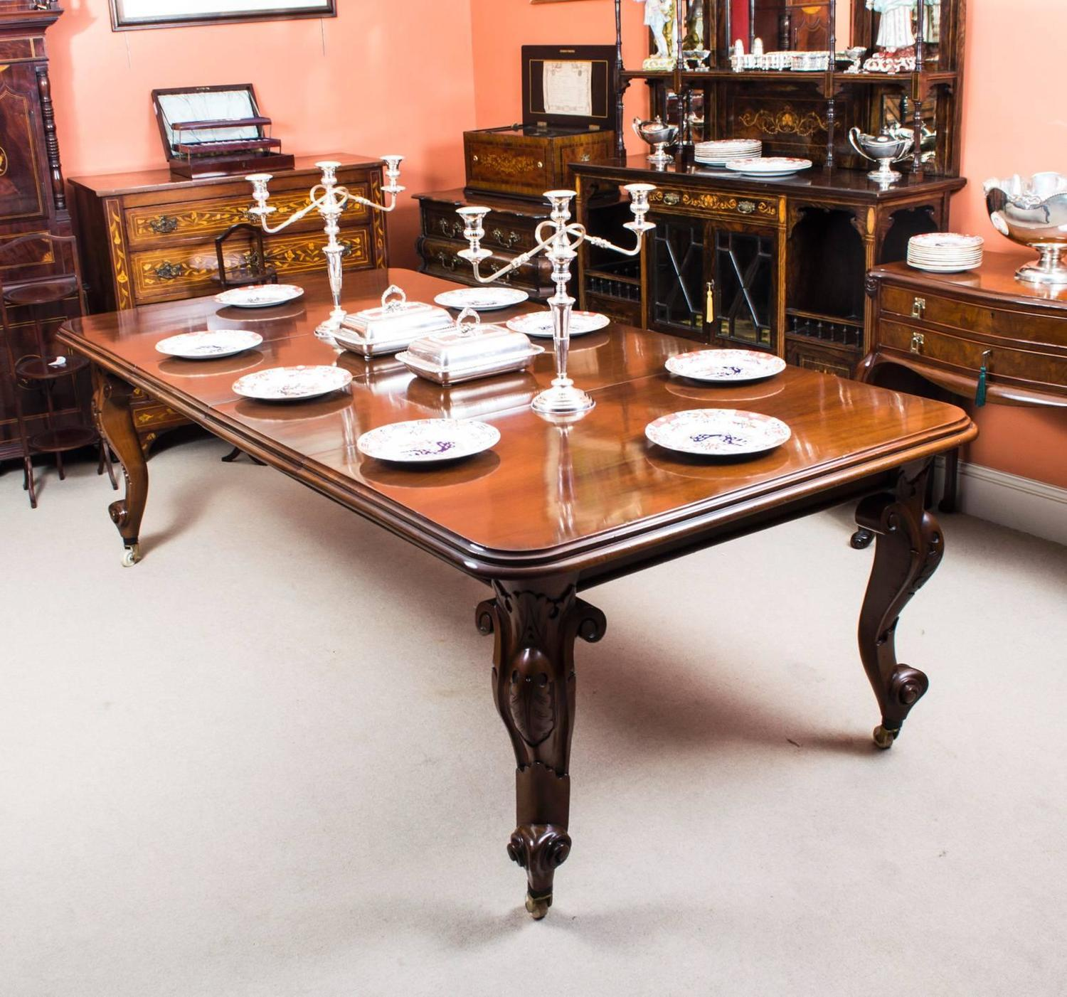 Antique victorian mahogany extending dining table circa for Dining room tables victorian