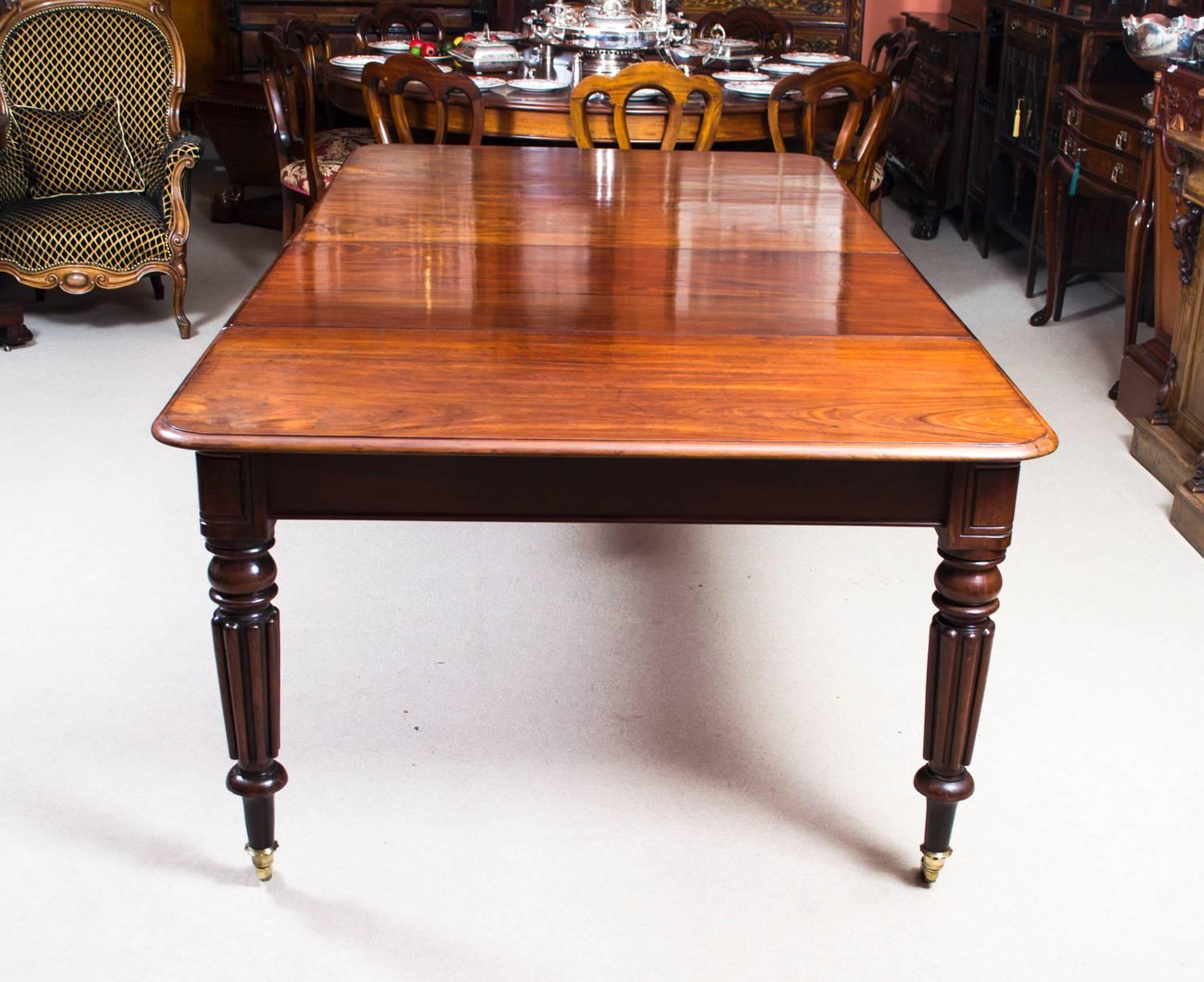 Antique Regency Mahogany Gillows Style Dining Table, Circa