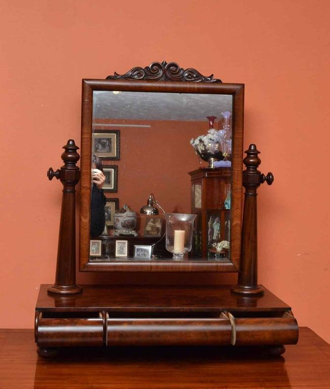 Mid-19th Century 19th Century Victorian Mahogany Dressing Table Mirror For Sale