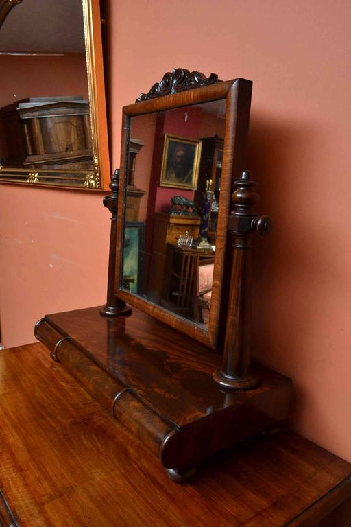 19th Century Victorian Mahogany Dressing Table Mirror For Sale 2