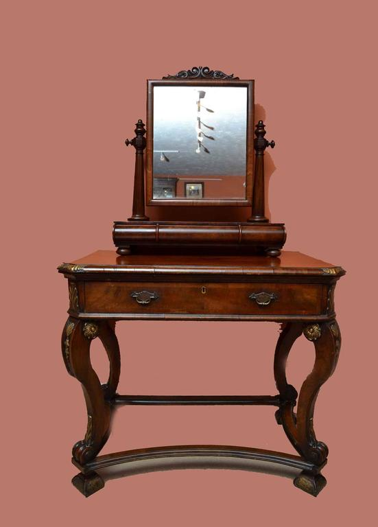 19th Century Victorian Mahogany Dressing Table Mirror For Sale 3