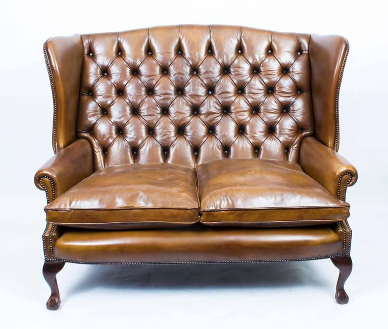 Peachy Bespoke English Handmade Three Leather Suite Chippendale Caraccident5 Cool Chair Designs And Ideas Caraccident5Info