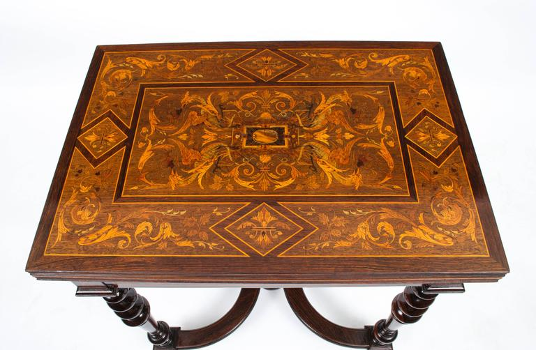 Antique French Card Games Table By Jeanselme, Circa 1890 3