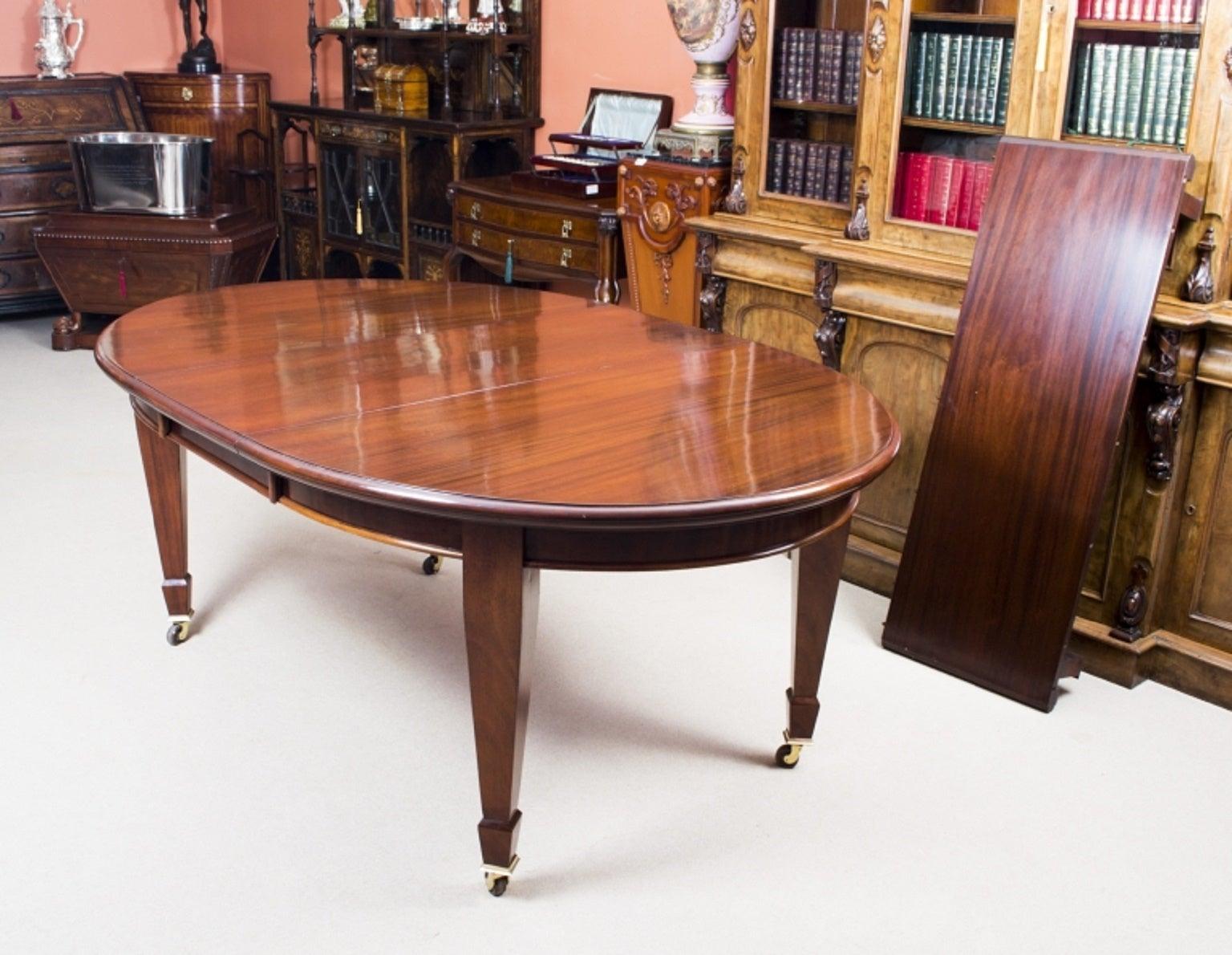Antique edwardian mahogany dining table circa 1900 at 1stdibs workwithnaturefo