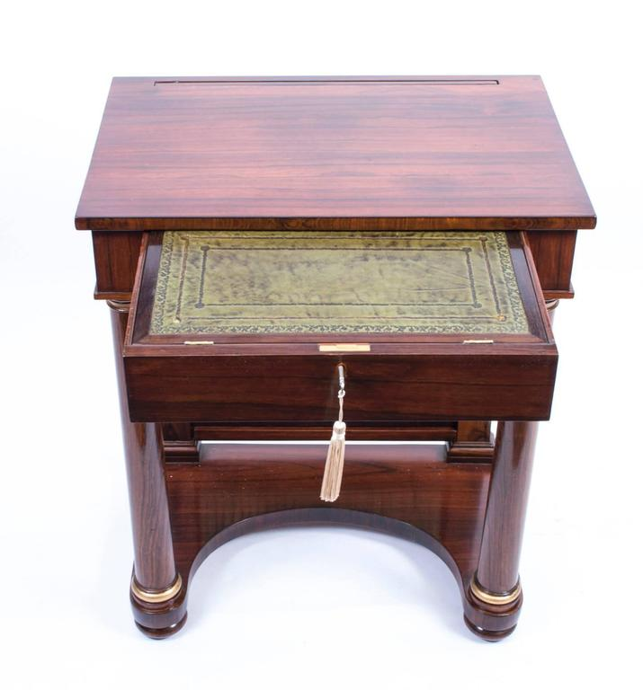 19th Century English Empire Rosewood Console Writing Table In Excellent  Condition For Sale In London, - 19th Century English Empire Rosewood Console Writing Table For Sale