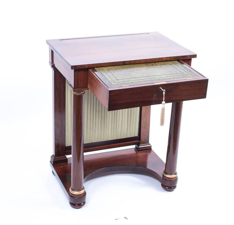 Antique english empire rosewood console writing table for 10 inch depth console table