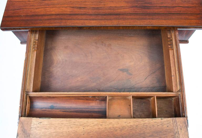 19th Century English Empire Rosewood Console Writing Table For Sale 4