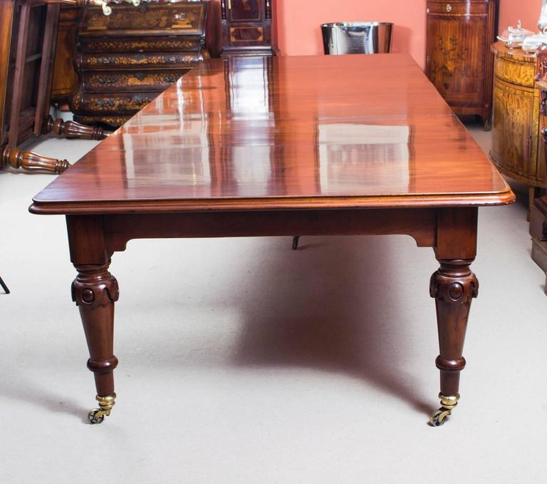 This Is A Rare Opportunity To Own An Antique Mid Victorian Flame Mahogany Dining Or
